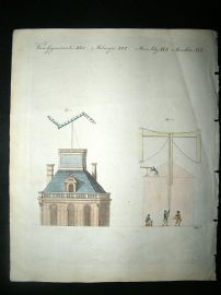 Bertuch: C1800 Telegraphs, Hand Col, Science Print.